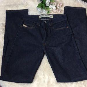 Diesel Button Fly High Waisted Dark Wash Jeans 27